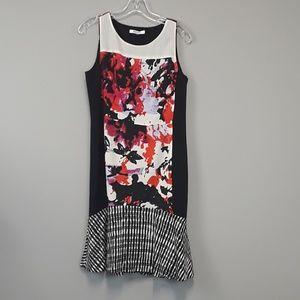DKNYC floral colorblock mini dress size 8